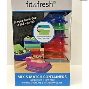 Fit & Fresh BN 10 piece set mix & match containers